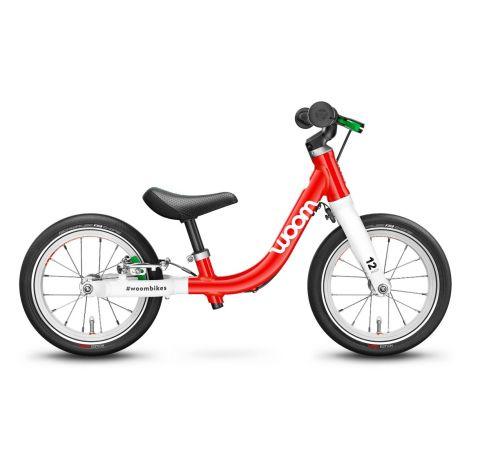 Najlżejszy rowerek biegowy Woom 1 Czerwony