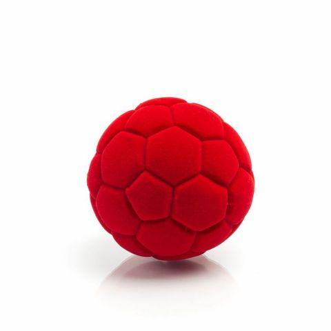 Rubbabu Piłka futbolowa czerwona mała