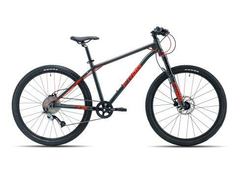 Rower Frog 72 MTB Szary Metalik / Neonowy czerwony