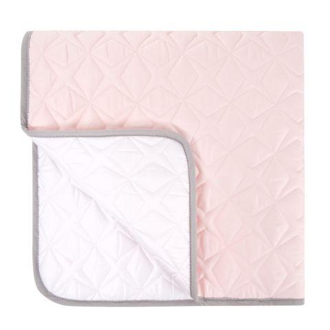 Samiboo mata pikowana SUPER STAR 90x90 różowo-biała