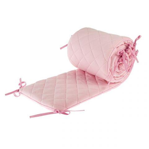 Samiboo ochraniacz do łóżka pikowany różowy 210x30