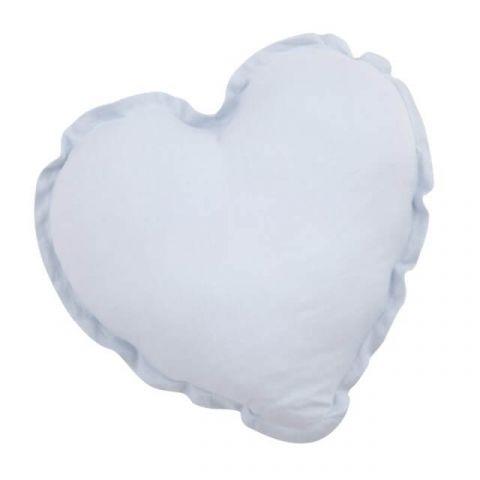 Samiboo poduszka serce niebieska lniana