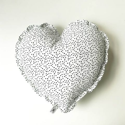 Samiboo poduszka serce confetti biało-czarne