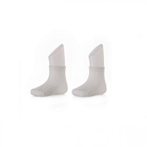 XKKO socks 24-36 miesięcy 2szt. White