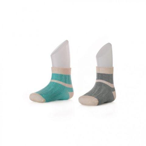 XKKO socks 24-36 miesięcy 2szt. Stripes Uni