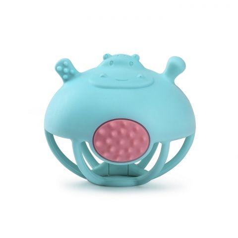 Smily Mia Wielofunkcyjny Gryzak Zabawka Hipopotam Blue
