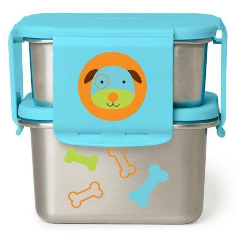 metalowe pudełko na śniadanie dla dzieci skip hop