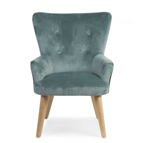 Sofa pojedyncza do pokoju dziecka Velvet Green Childhome
