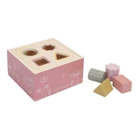 Sorter kształtów z drewna dla dzieci Róż z kolekcji Wild Flowers Little Dutch
