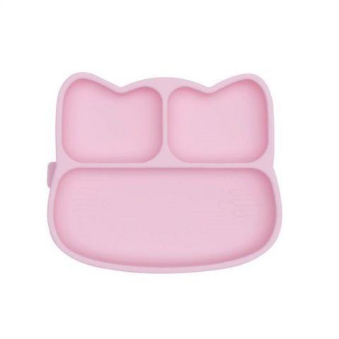 silikonowy talerzyk dla dziecka do nauki jedzenia