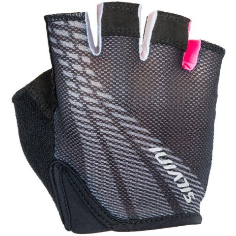 Rękawiczki rowerowe dziecięce SILVINI junior TEAM 9-10 czarno-różowe