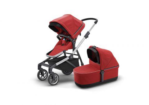 Thule Sleek - zestaw spacerówka + gondola Red