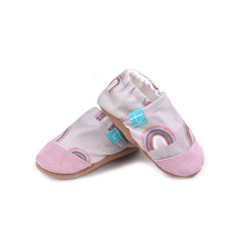 Kapcie titotki dla niemowlaka tęczowe