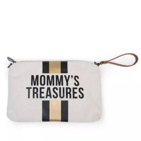Torebka dla mamy Mommy's Treasures Childhome w Paski Czarno-złote