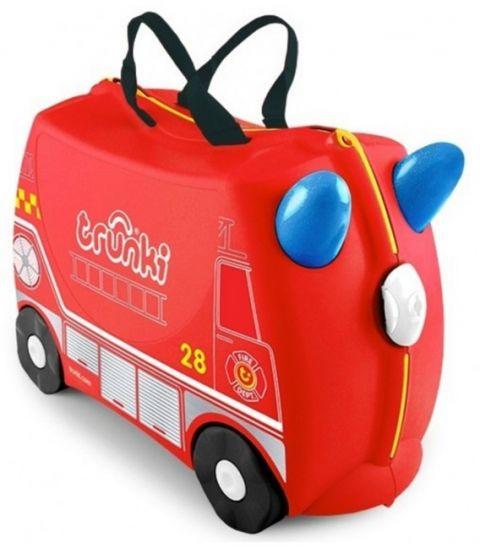 Walizka Trunki jeżdżąca Wóz strażacki Frank