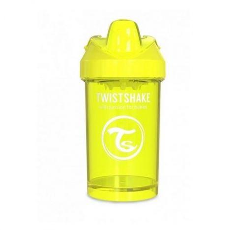 Twistshake - Kubek niekapek z mikserem żółty