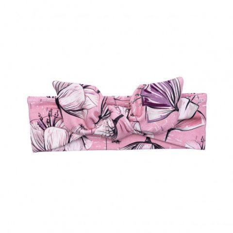 UL&KA opaska dla dziewczynki POPPY FLOWER 6-12 msc 42-44 cm