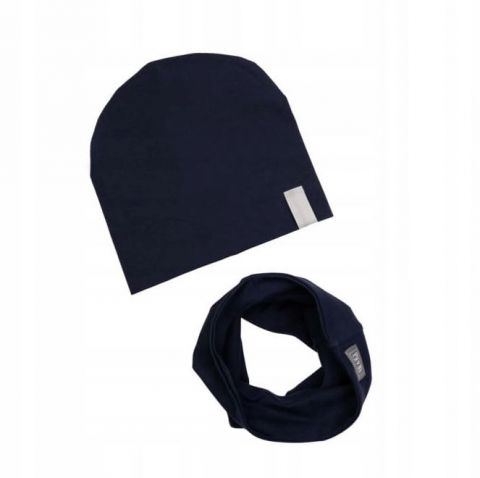 UL&KA komplet czapka i komin dla chłopca GRANAT 4 L