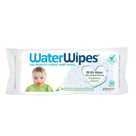 WATERWIPES chusteczki nasączane czystą wodą Soapberry 60szt.
