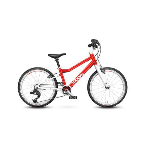 Najlżejszy rower dziecięce Woom 4 Czerwony