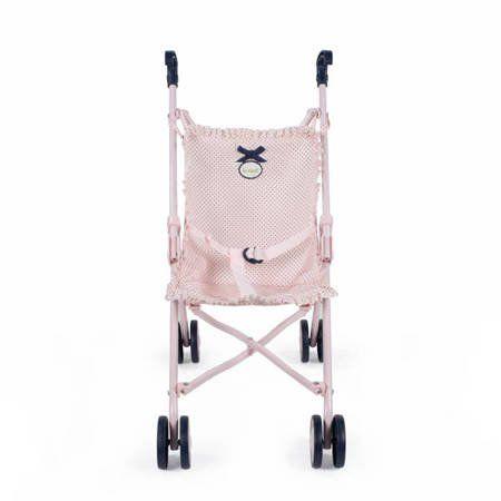 Wózek spacerówka dla lalek Charlotte różowy