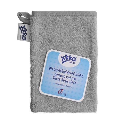 XKKO rękawica kąpielowa Organic Silver