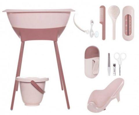 Zestaw kąpielowy 8 elementów LUMA Blossom Pink