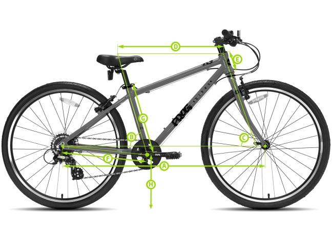 Geometria roweru frog 52